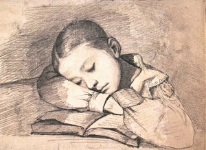 Portrait de Juliette dormant de Courbet
