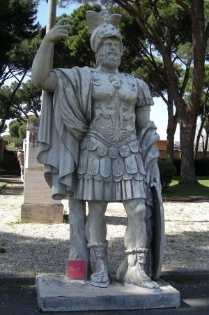 Statue de Mars utilisée dans le film Gladiator de Ridley Scott.