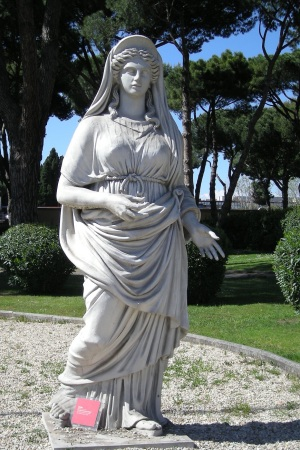 Statue de Junon utilisée pour le film La chute de l'Empire romain