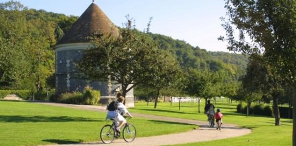 Balade à vélo dans le parc de Rouelles