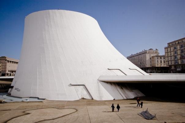 Le Volcan, ou Pot de Yaourt, salle de spectacle imaginée par l'architecte Oscar Nimeyer.