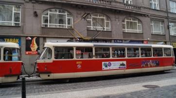 Tramway à Prague.