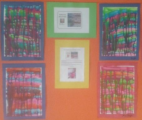 Les peintures dégoulinantes des petits élèves de Stormy.